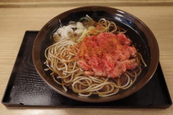 かけそば(300円)+紅生姜天(120円)
