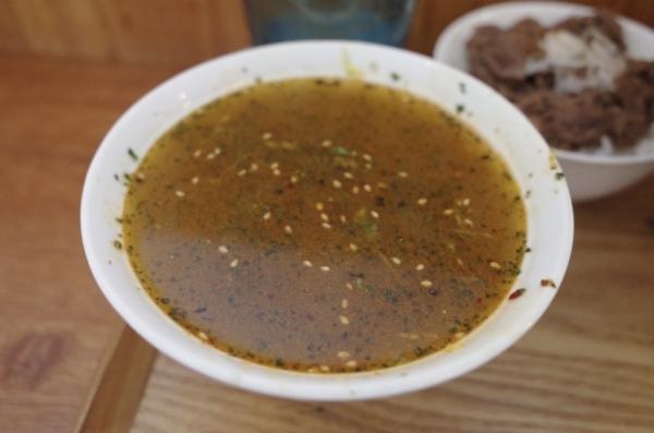 バジル蕎麦湯
