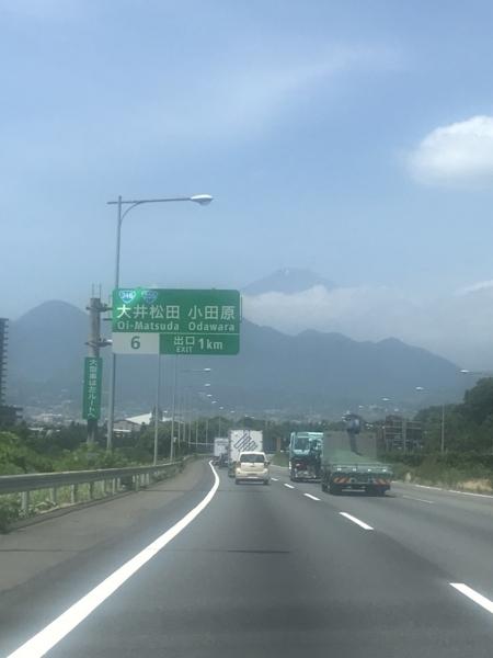 大井松田手前で見えた富士山