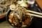 黒胡麻ダッタン蕎麦をとろろつゆで手繰る