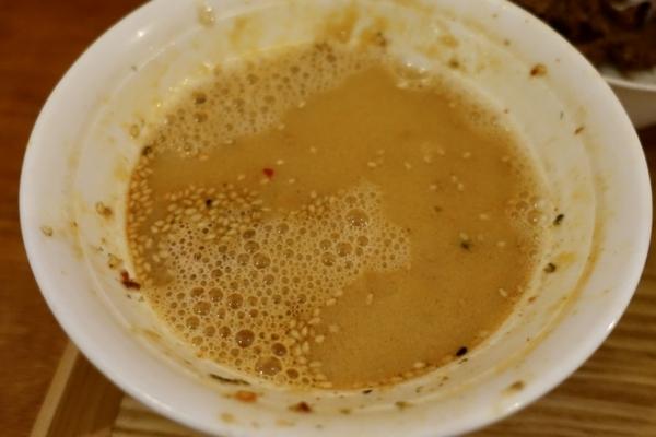 坦々蕎麦湯
