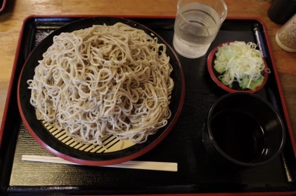 夏そば鹿沼産地粉切り【大盛550g】(800円)+鯖出汁変更(0円)