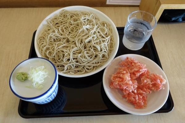 紅生姜天もりそば(420円)+大盛【1.5倍】(100円)
