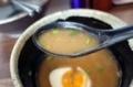 スープ割りレンゲ上げ