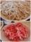大盛の蕎麦と紅生姜天
