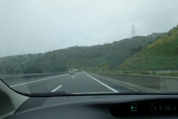 雨が強まる