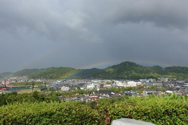 着見櫓跡から見えた二重の虹