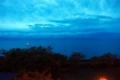 台風一過の夜明けの琵琶湖