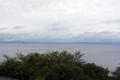 日が昇った琵琶湖