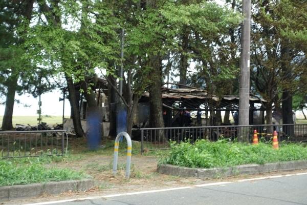 バーベキュー場の火災