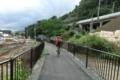 サイクリングコースは内陸へ