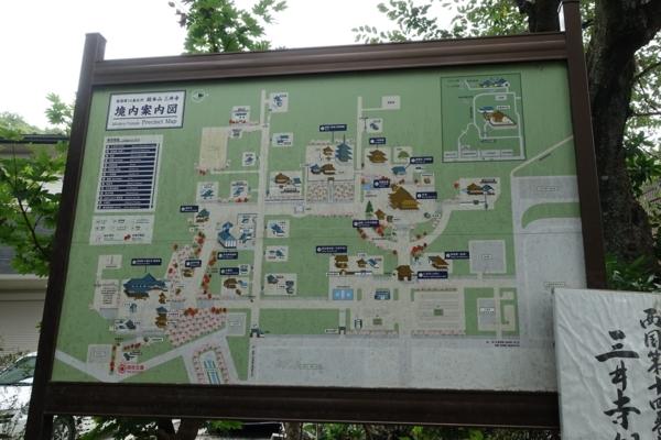 三井寺境内図