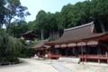 三仏堂と護法権現社拝殿、鐘楼