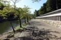 彦根城内をチャリで走る