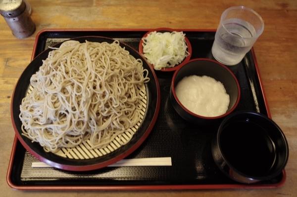北海道雨竜産地粉蕎麦・新そば【大盛500g】(800円)+とろろ(100円)