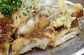 チキンカツと肉玉の断面