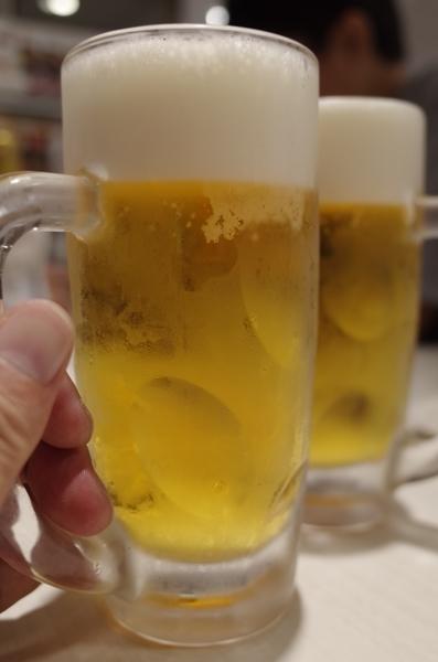生ビール(496円)×2で乾杯