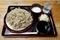 ダッタン蕎麦【並盛350g】(500円)+とろろ(100円)+鯖出汁変更(0円)
