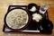 北海道摩周産地粉切り新蕎麦(800円)+鯖出汁変更+大根鬼おろし(50円)