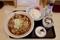 ばら肉そば(580円)+大盛【1.5倍】(100円)+ご飯セット【玉子付き】(100円)