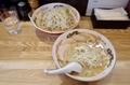 みそつけ麺(850円)+チャーシュー(150円)+野菜マシ・しょうが