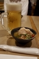 生ビール(600円)とお通し