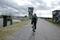 附洲揚排水機場手前から砂利道