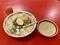 台湾式肉そぼろ煮込み丼[魯肉飯・スープ付](700円)