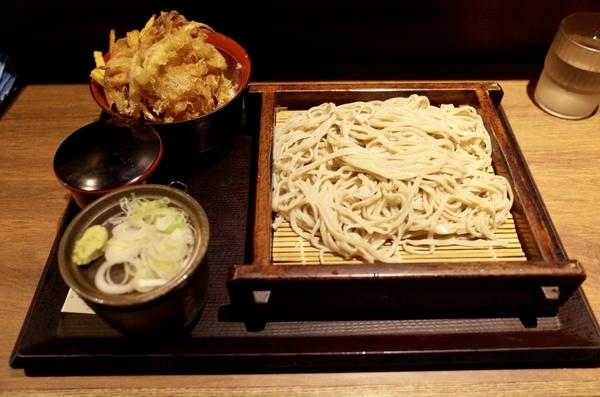 そば&かき揚げ丼セット【冷】(620円)