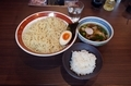 特製つけ麺(950円)+大盛(無料券)+千葉ふさこがね・匝瑳の舞・ライス小(50