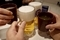 生ビールとお茶で乾杯