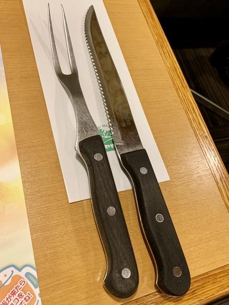 店員さん用のフォーク?とナイフ