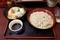 ミニカツ丼セット【冷たいそば】(670円)