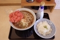 紅生姜天そば(420円)+特盛[2倍](200円)+とろろご飯[小](200円)