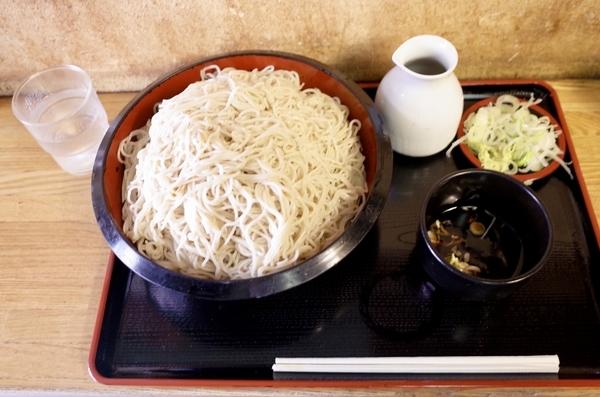 更科蕎麦【特盛700g】(800円)+鯖出汁変更(0円)