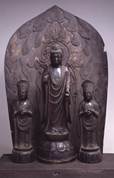 重文「銅造阿弥陀三尊像」鎌倉時代 正統院