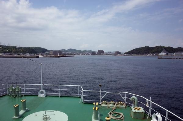 金谷港を振り返る