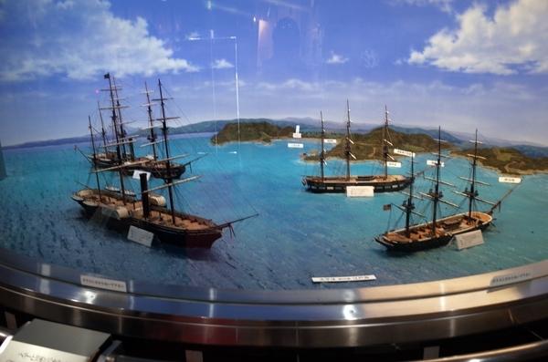 黒船来航ジオラマ