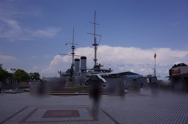 三笠公園と東郷平八郎像
