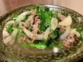 豚肉と青菜炒め