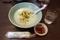 汁錦魚生粥【五目粥(イカ・白身魚・エビ・野菜】(710円)