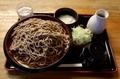 田舎蕎麦【特盛700g】(800円)+とろろ(100円)+鯖出汁変更(0円)