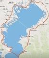 東京湾一周行程図