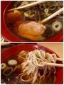 鴨肉/蕎麦を手繰る