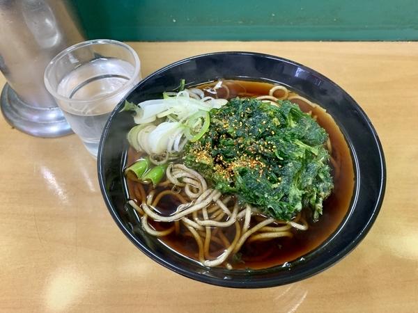 春菊天そば(400円)