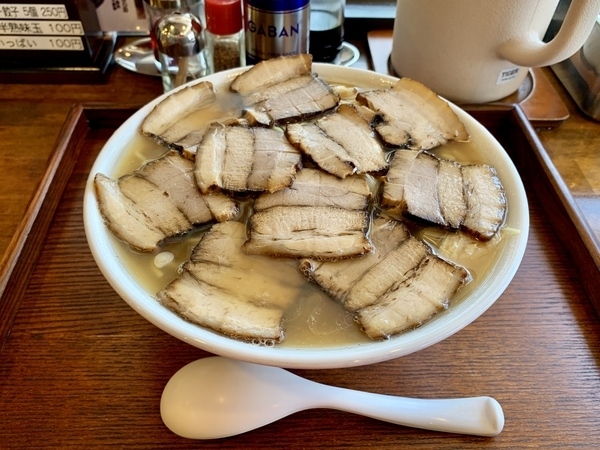 肉そば【醤油】(1000円)+特急2玉(100円)