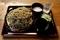 黒胡麻ダッタン蕎麦【大盛550g】(750円)+とろろ(100円)+鯖出汁変更(0円)