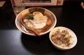 鯖出汁中華そば(700円)+ミニ黒毛和牛のそぼろご飯SET(200円)