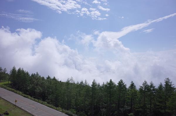 下は雲で見えない