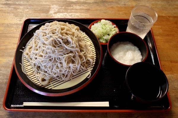 北海道雨竜産地粉切り新蕎麦・新そば【大盛500g】(800円)+とろろ(100円)
